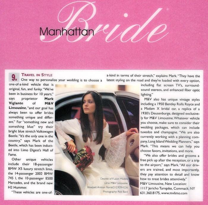 Manhattan Bride Limo