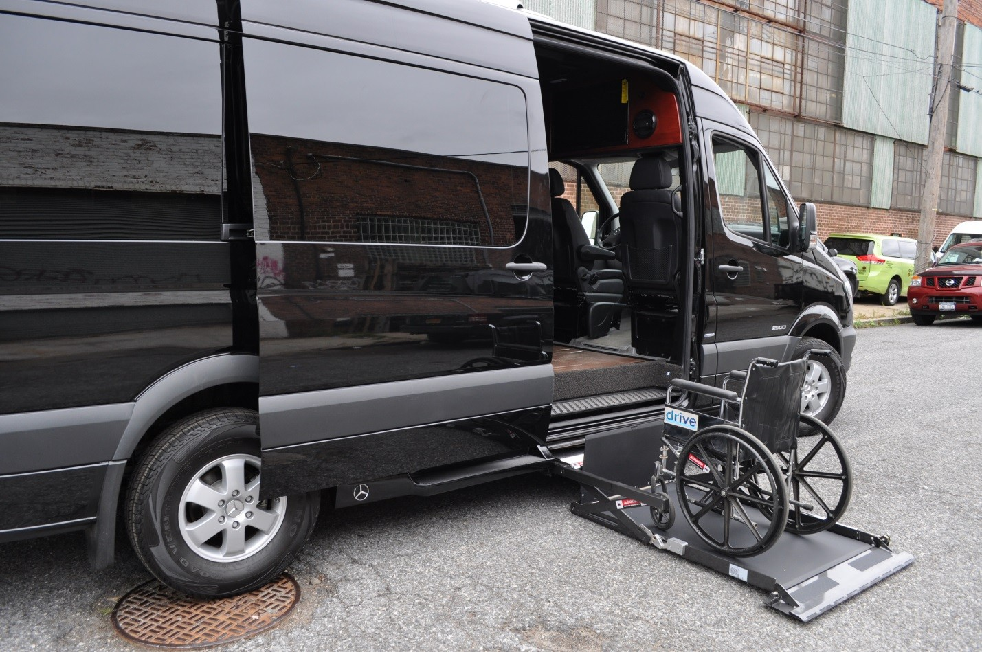 Handicapped accessible luxury mercedes sprinter van m v for Handicapped wheelchair