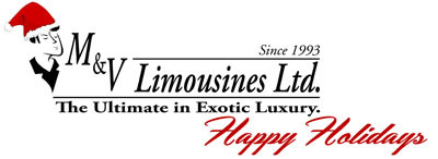 M&V Limousines, LTD New York Limo Company Logo